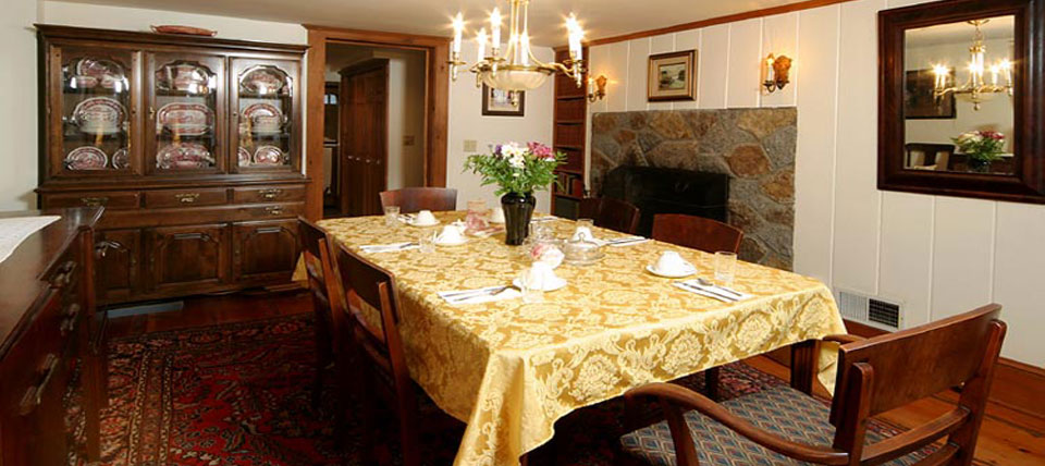 Savor your breakfast and then linger at the table in Tuck Inns lovely Rockport, Massachusetts Bed and Breakfast.