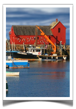 The Tuck Inn of Rockport, Massachusetts is just a short walk from beautiful Rockport Harbor.